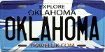 Oklahoma State License Plate Fridge Magnet