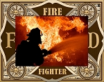 Firefighter Laser Engraved Wood Picture Frame