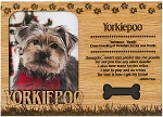 Yorkiepoo Engraved Wood Picture Frame Magnet