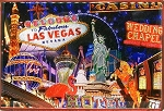 Las Vegas Nevada Fridge Magnet and Magnetic Picture Frame