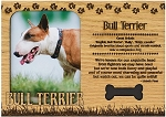Bull Terrier Engraved Wood Picture Frame Magnet