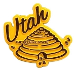 Utah Beehive Shaped Fridge Magnet
