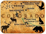 Colorado Rustic Map Fridge Magnet