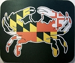 Maryland Flag with Crab Mouse Pad
