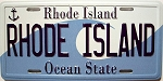 Rhode Island License Plate Novelty Fridge Magnet