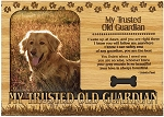 My Trusted Old Guardian Engraved Wood Picture Frame Magnet
