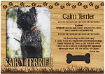 Cairn Terrier Engraved Wood Picture Frame Magnet
