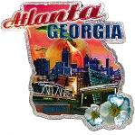 Atlanta Georgia Jumbo Artwood Foil Fridge Magnet