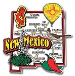 New Mexico Jumbo Map Fridge Magnet