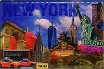 New York City Fridge Magnet and Magnetic Picture Frame