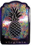 Virginia with Pineapple Foil Design Fridge Magnet