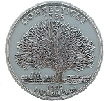 Connecticut State Quarter Fridge Magnet