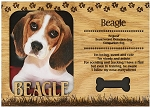Beagle Engraved Wood Picture Frame Magnet