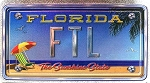 Ft. Lauderdale Florida Foil Panoramic Dual Sided Fridge Magnet