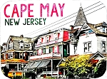 Cape May New Jersey Photo Fridge Magnet
