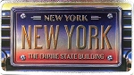 New York The Empire State Building Foil Panoramic Dual Sided Fridge Magnet