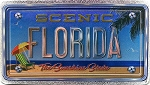 Florida The Sunshine State Foil Panoramic Dual Sided Fridge Magnet