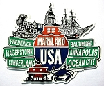 Maryland Street Signs Fridge Magnet