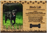 Black Lab Engraved Wood Picture Frame Magnet