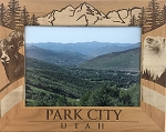 Park City Utah Laser Engraved Wood Picture Frame