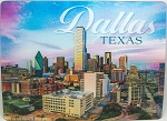 Dallas Texas Skyline Twilight Montage 3D Postcard
