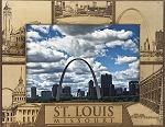 St Louis Missouri Laser Engraved Wood Picture Frame (5 x 7)
