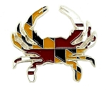 Maryland Flag Design Crab Hat Tac or Lapel Pin