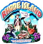 Rhode Island the Ocean State Artwood Montage Fridge Magnet