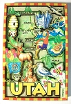 Utah Cartoon Map Fridge Magnet