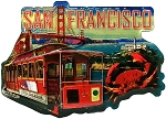 San Francisco Jumbo Artwood Foil Fridge Magnet