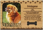 Pekingese Engraved Wood Picture Frame Magnet