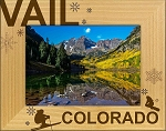 Vail Colorado Laser Engraved Wood Picture Frame