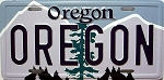Oregon State License Plate Novelty Fridge Magnet