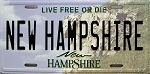 New Hampshire State License Plate Novelty Fridge Magnet