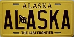 Alaska State License Plate Fridge Magnet