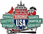 Virginia Street Signs Fridge Magnet