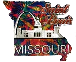Saint Louis Missouri Jumbo Artwood Foil Fridge Magnet