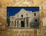 San Antonio Texas with LBJ National Park Laser Engraved Wood Picture Frame (5 x 7)