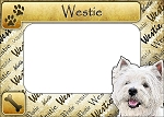 Westie Picture Frame Fridge Magnet