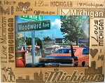 I Love Michigan Laser Engraved Wood Picture Frame