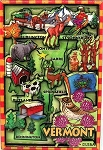 Vermont Cartoon Map Fridge Magnet
