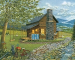 Heritage Puzzle A Smoky Mountain Summer by Teresa Pennington - 1000 Pieces - 30