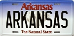 Arkansas License Plate Novelty Fridge Magnet