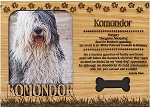 Komondor Engraved Wood Picture Frame Magnet