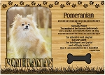 Pomeranian Engraved Wood Picture Frame Magnet