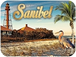 Sanibel Island Lighthouse Fridge Magnet
