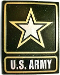 United States Army Star Square Fridge Magnet