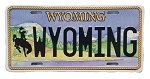 Wyoming State License Plate Novelty Fridge Magnet