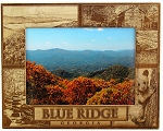 Blue Ridge Georgia with Bear and Cabin Laser Engraved Wood Picture Frame