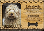 Labradoodle Engraved Wood Picture Frame Magnet